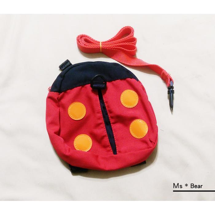 可愛瓢蟲小朋友幼兒背包小瓢蟲零食背包旅行背包瓢蟲包包胸前釦環零食包水壺包kid bag k