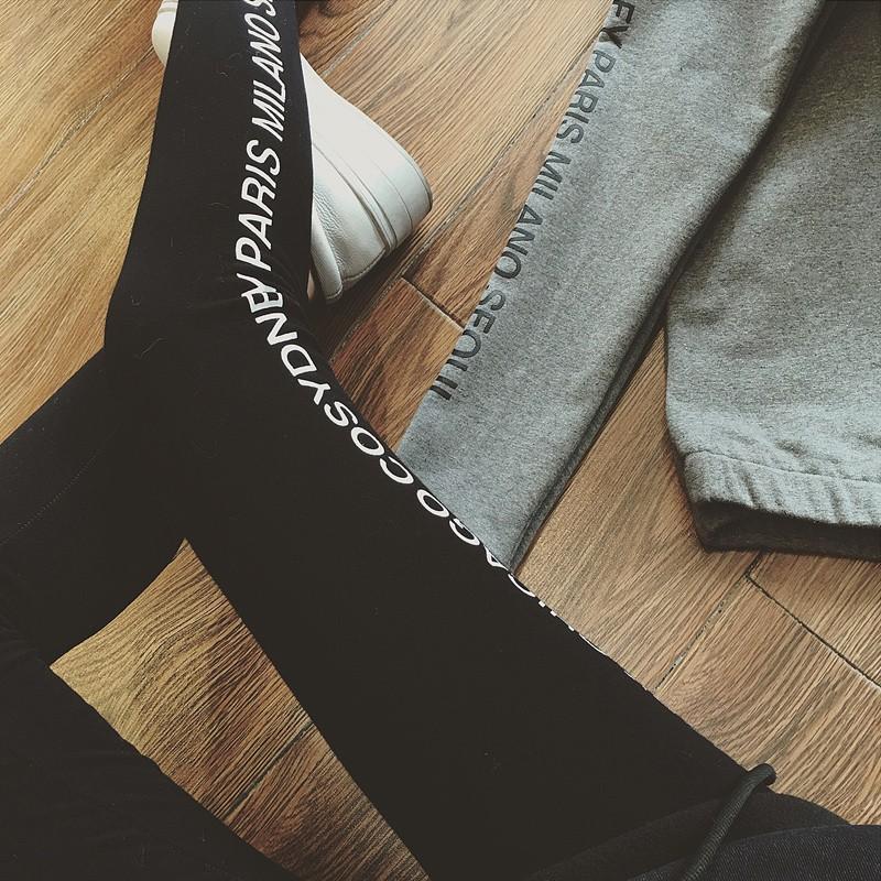 2016 外穿打底褲高腰彈力棉長褲顯瘦字母小腳褲學生 長褲女寬褲褲裙長洋裝背心吊帶裙襯衫套