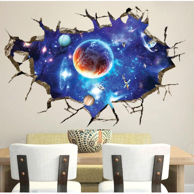❤限宅配❤ 3D 破牆太空星球FX8502 牆貼臥室客廳天花板裝飾貼PVC 可移除