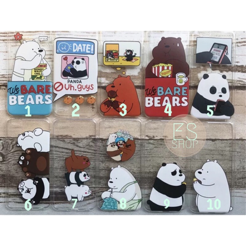 區)We bare bear 熊熊遇見你鬼怪手機殼iphone6 6s iPhone 7
