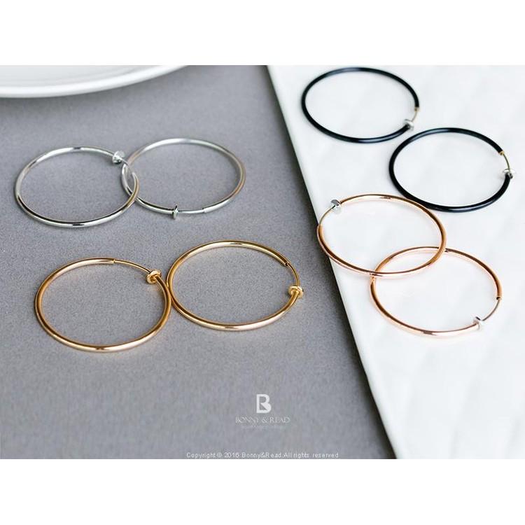 圈圈夾式耳環4 0 4 色Fashion Circle Ear Clips