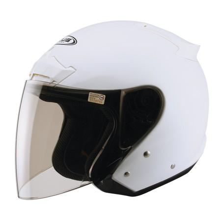 ZEUS zs609 白~體殼左右下部增加鏡片夾具,可增加保護性類似全罩式之