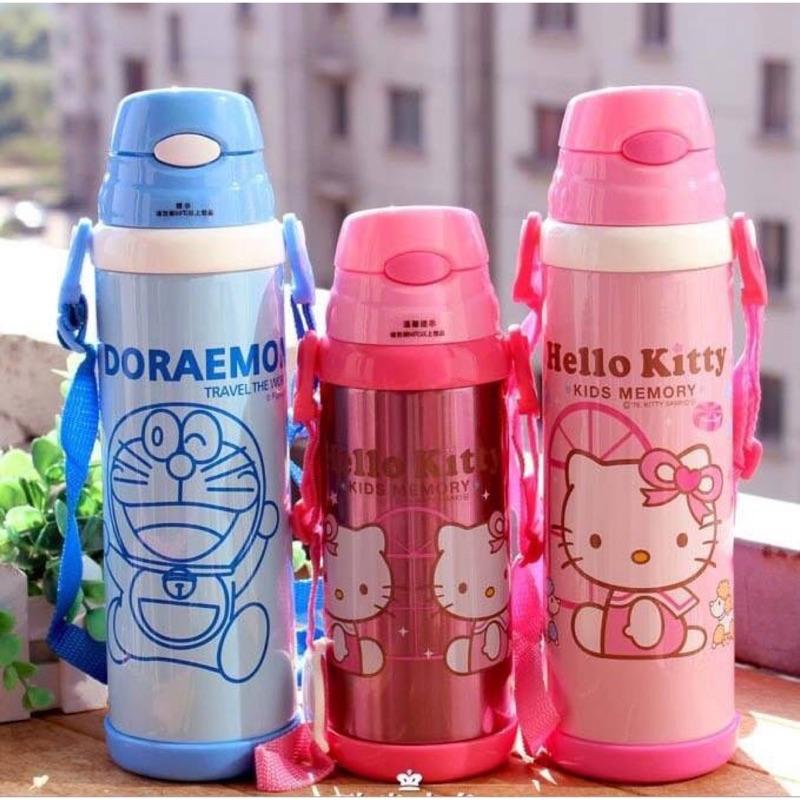 Kitty 哆啦a 夢彈跳吸管水壺
