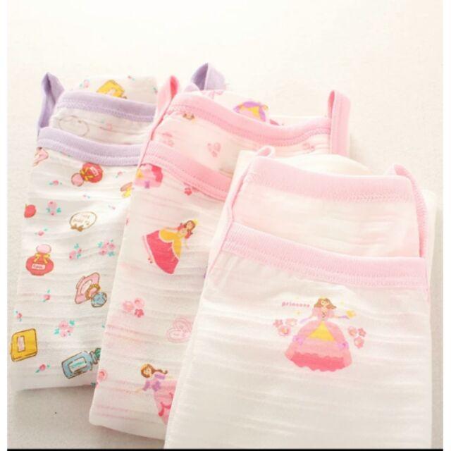 3 件裝西松屋女童寶寶嬰兒公主香水瓶純棉吊帶背心竹節棉打底睡衣超薄款夏