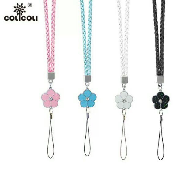 編織紋純色花朵吊飾掛繩手機殼保護套掛脖吊繩TR 相機繩