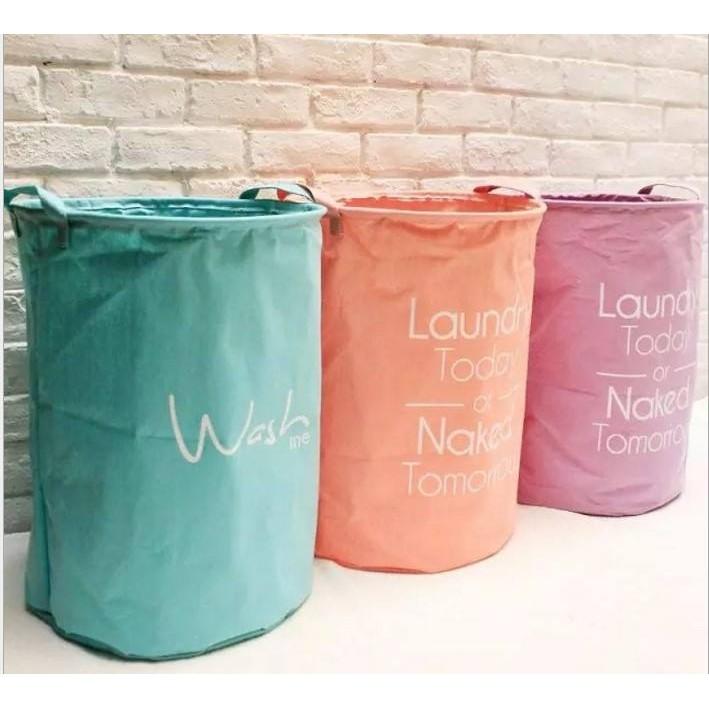糖果色字母髒衣收納籃防水布藝簡約收納桶