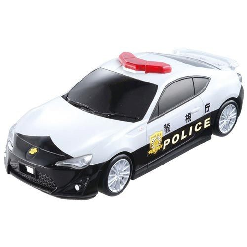 TOMICA 交通世界TOYOTA 86 警車收納盒不含小汽車_TW80613