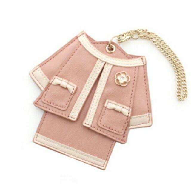 專櫃CLATHAS 小香奈兒超精緻卡夾識別證夾藍粉紅黑紅
