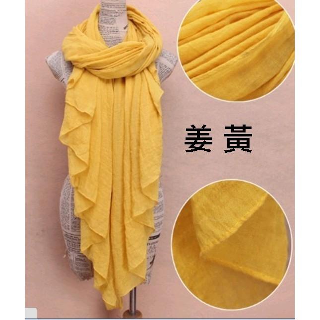 秋意涼多色森林系棉麻圍巾披肩絲巾多用文藝清新氣質糖果多色圍巾