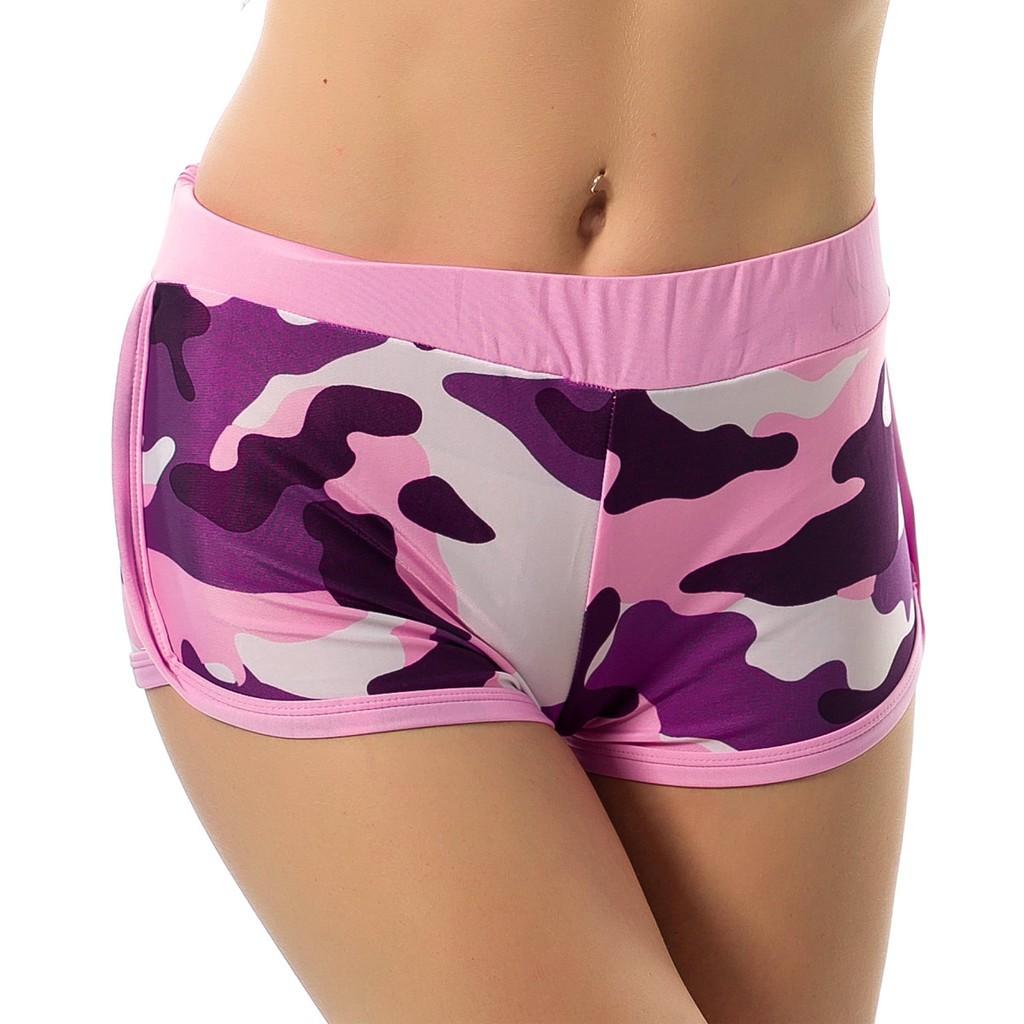 新看 女款 綁定彈性腰部瑜伽 短褲