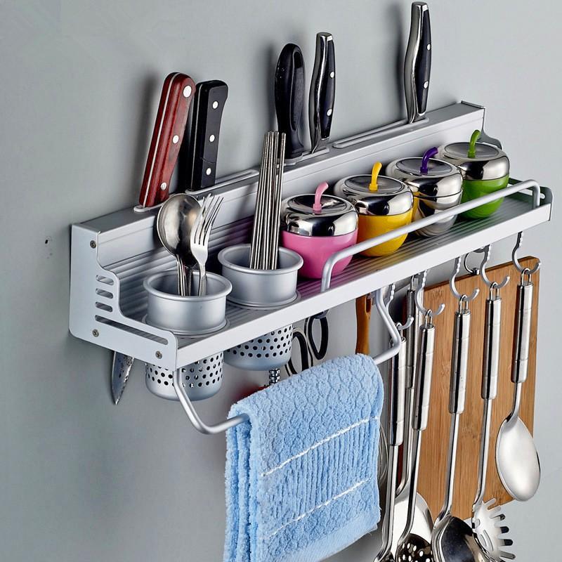 太空鋁廚房置物架餐具瀝水架廚房櫃置物架抽收納與鉤杯多 香料詞義持有人工具廚房餐具籃