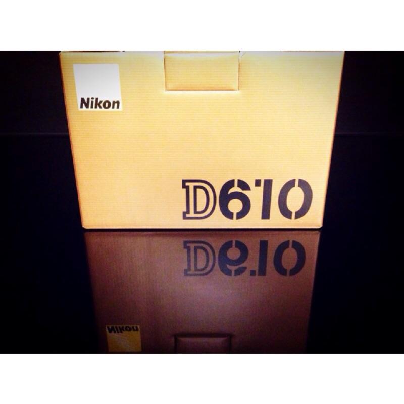 Nikon D610 單機身BODY 全片幅FX 國祥 貨