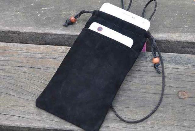 夏日出遊旅行 旅行收納手機袋絨布袋手機束口袋有掛繩可斜背旅行收納側背包可裝手機行動電源耳機