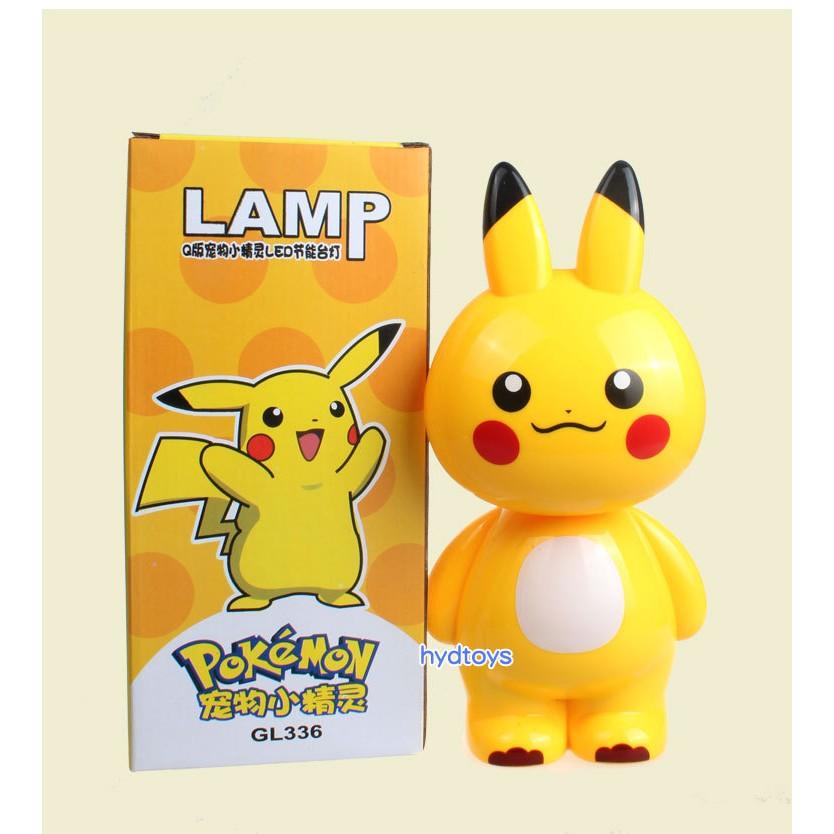 精靈寶可夢檯燈卡通皮卡丘LED 節能充電學習燈學生書桌小夜燈