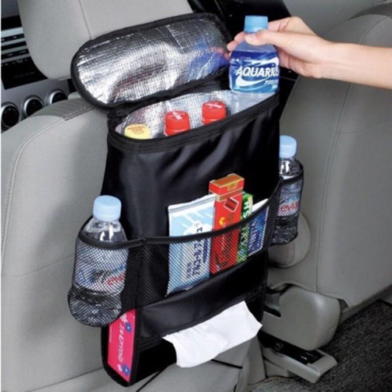 椅背收納袋~便利多 汽車椅背保溫保冷收納袋抽取式面紙盒~