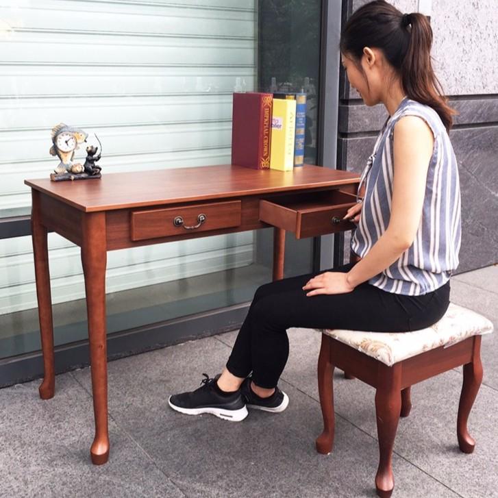 兩色英式古典BLUNT 書桌歐風英式北歐簡約二抽書桌電腦桌化妝桌美甲桌美容桌白色ikea