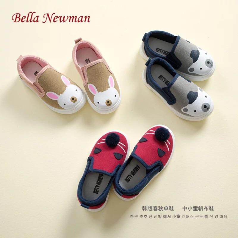 貝拉紐曼2017  兒童帆布鞋女童鞋休閒鞋男童低幫卡通潮布鞋