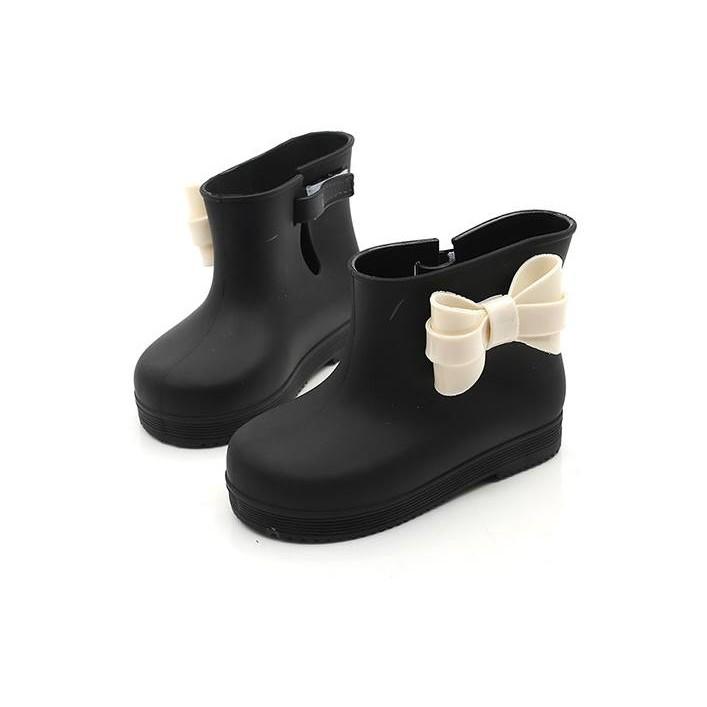 兒童蝴蝶結雨鞋梅麗莎防滑塑膠女童春款雨靴