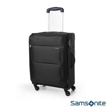 Samsonite 新秀麗20 吋BASAL 布面可擴充行李箱黑