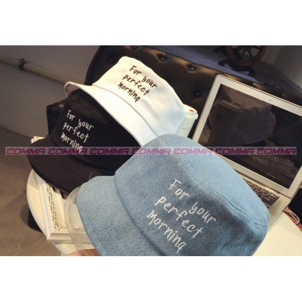 comma store 日流刺繡三排字母For your perfect Morning