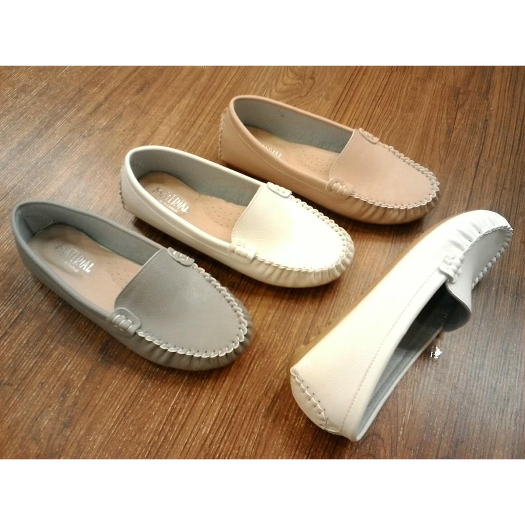 豆豆鞋IF 美鞋MIT   真皮 荔枝紋皮超軟舒適厚乳膠休閒鞋樂福鞋豆豆鞋23 25 碼