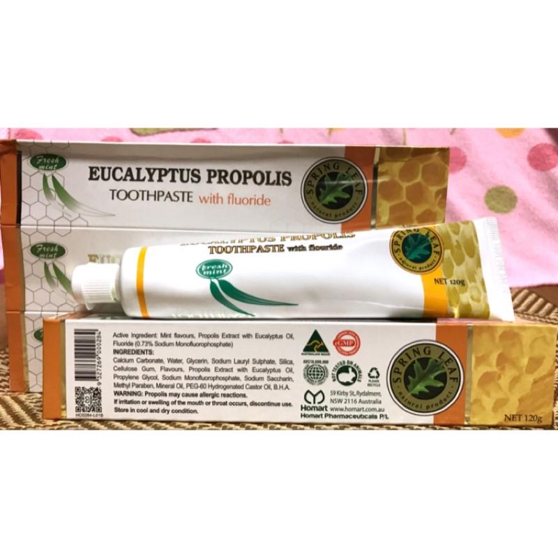 澳洲Spring Leaf 綠芙尤加利蜂膠牙膏含氟