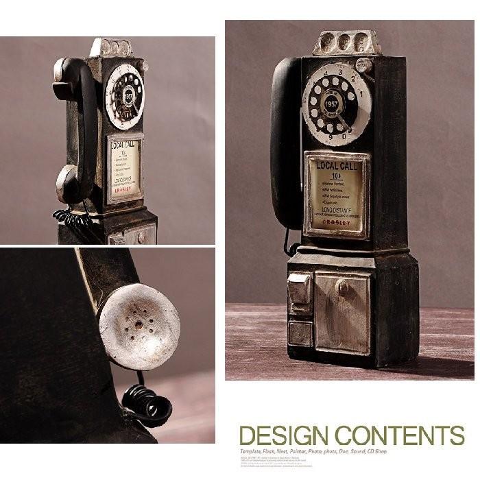 復古電話旋轉撥號電話復古復古擺飾骨董裝飾品擺飾佈置擺件拍照道具古董 電話裝潢~BWQ 11