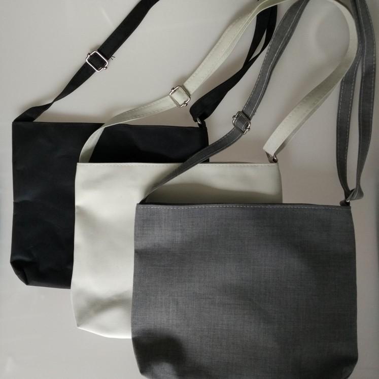 ✤DIY 包包✤空白手繪學生側背三色帆布包側背包,熱轉印絲網印刷手繪 可自行享受創作唯一無