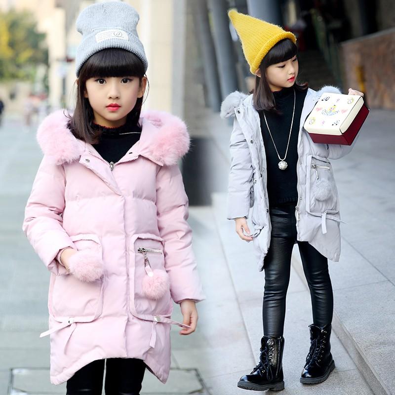 女童棉衣冬裝外套2016 中長款棉襖中大童加厚 兒童羽絨棉服