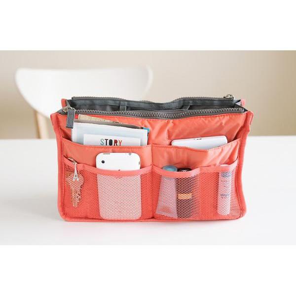 手提包插入整理器錢包雙存儲袋