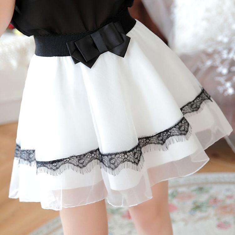 蕾絲高腰顯瘦歐根紗百褶a 字裙蓬蓬裙褲裙短裙半身裙