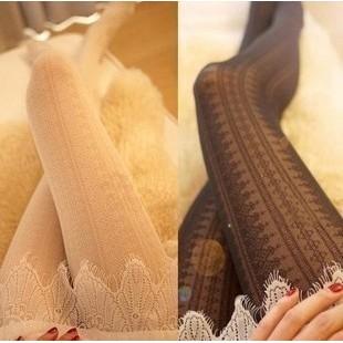 日單洛麗塔絲襪連褲襪絲襪復古鏤空蕾絲顯瘦天鵝絨美腿襪COSPLAY I WEAR 艾薇兒