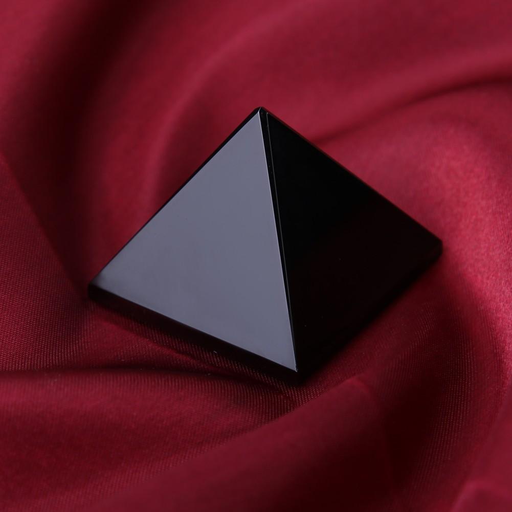 ~ 家居裝飾1 個天然黑曜石金字塔水晶擺件招財轉運納福飾品防小人