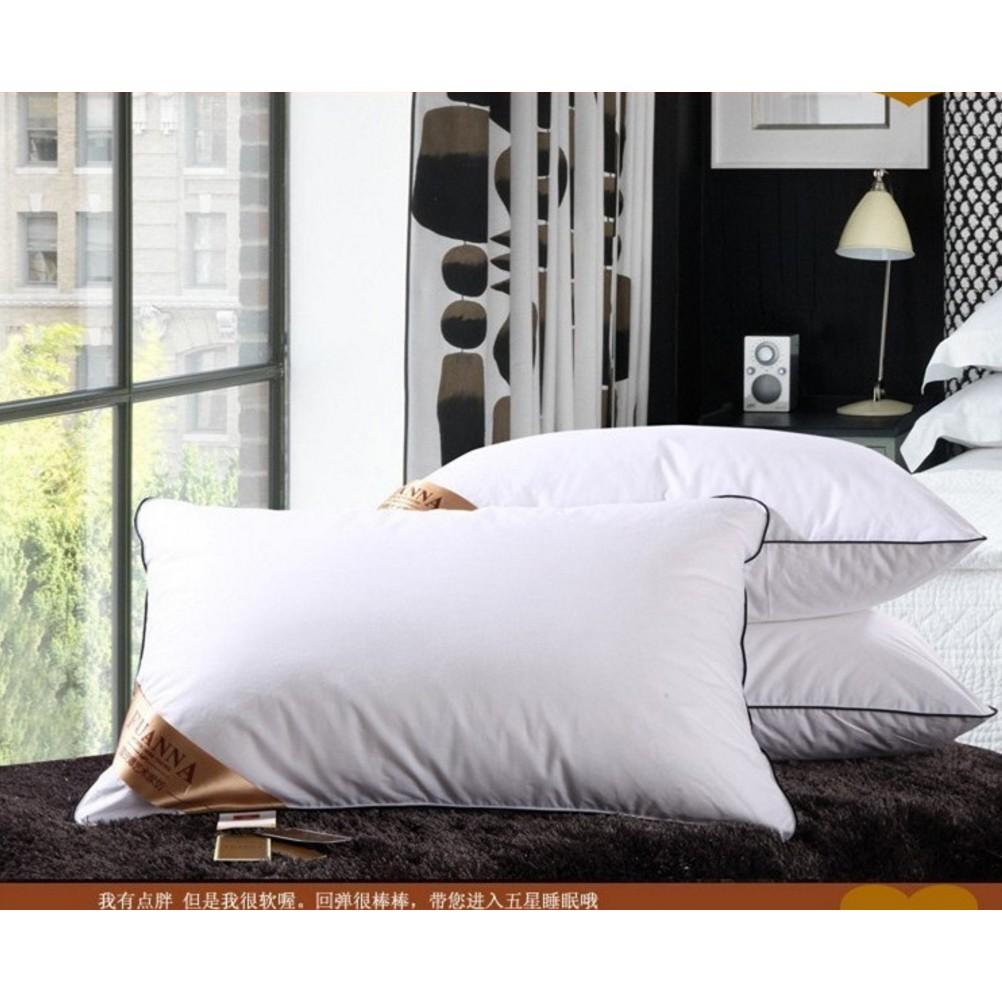 虎媽 趣四色五星級酒店軟枕頭羽絲絨枕3D 枕頭富安娜羽絲絨枕立體護頸枕羽絨枕超蓬鬆枕頭防蹣