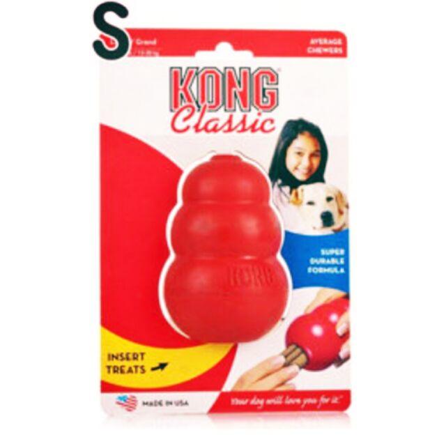 ~S 號~美國KONG ~紅色 葫蘆抗憂鬱玩具T3 ~凹槽內部可加花生醬也可放置零食