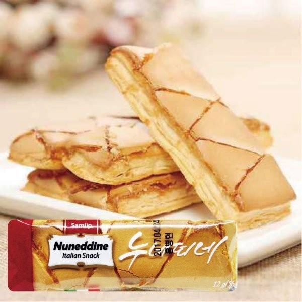 ~一箱100 條~韓國 樂天Samlip Nuneddine 義式焦糖奶油千層酥~每週四收
