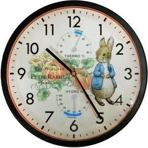 ~霏霓莫屬~彼得兔PR 南瓜溫度計溼度計壁鐘MD0987 圓形鐘靜音掛鐘時鐘