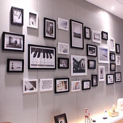 31 框簡約超大客廳照片牆相片牆相框牆 相框掛牆 歐式