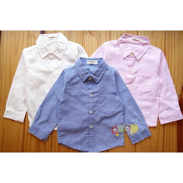 3880 素色襯衫挺版前口袋白襯衫薄款5 15 號中小童春秋