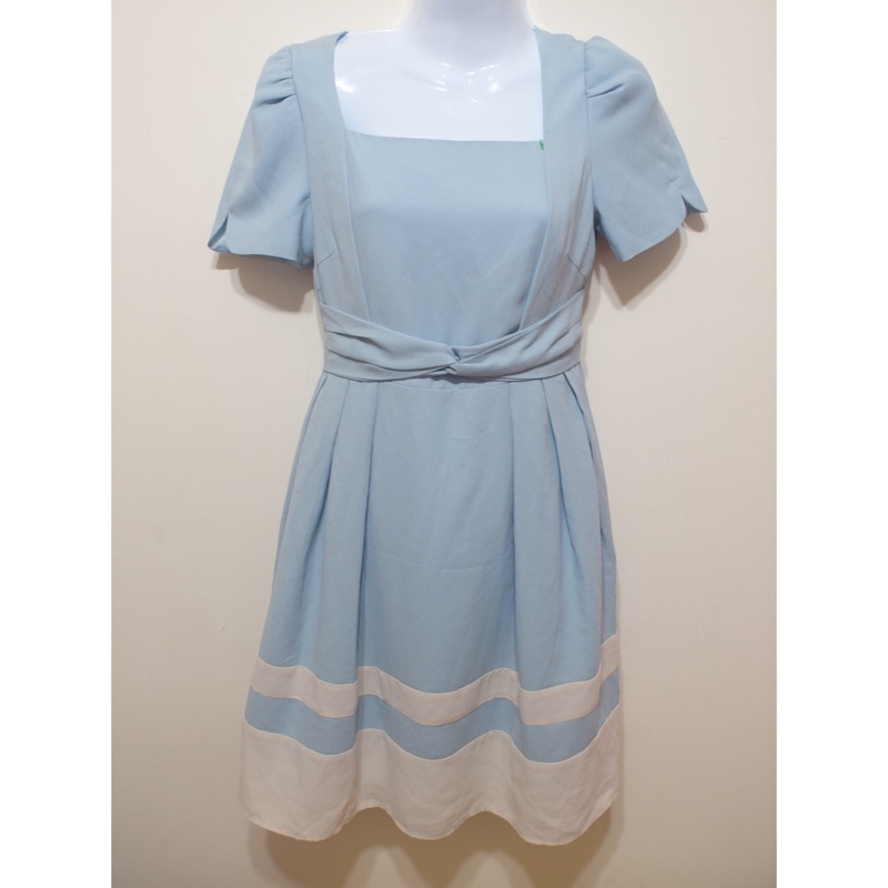 實拍✨日系風藍色甜美洋裝✨