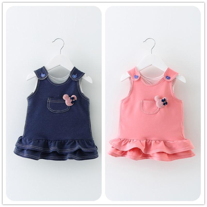 ~樂寶小舖~ 荷葉裙背帶洋裝女童洋裝兩色