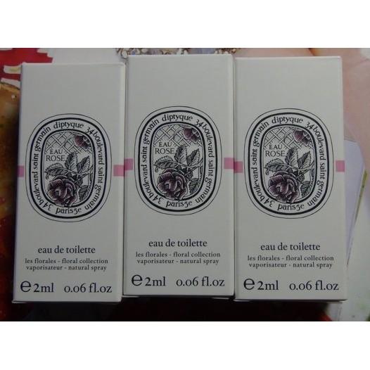 Diptyque 淡香水玫瑰2ml 針試管小香水
