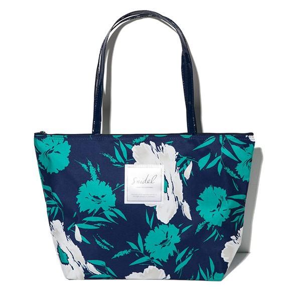 小熊日系植物花卉手提包簡約大方托特包肩包收納包可裝A4 側背包收納袋大尺寸