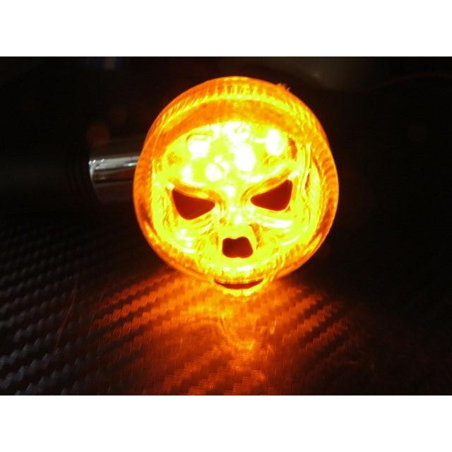 骷顱頭圓型方向燈12 晶橘黃光擋車方向燈LED 方向燈野狼愛將雲豹KTR 重車T1 T2
