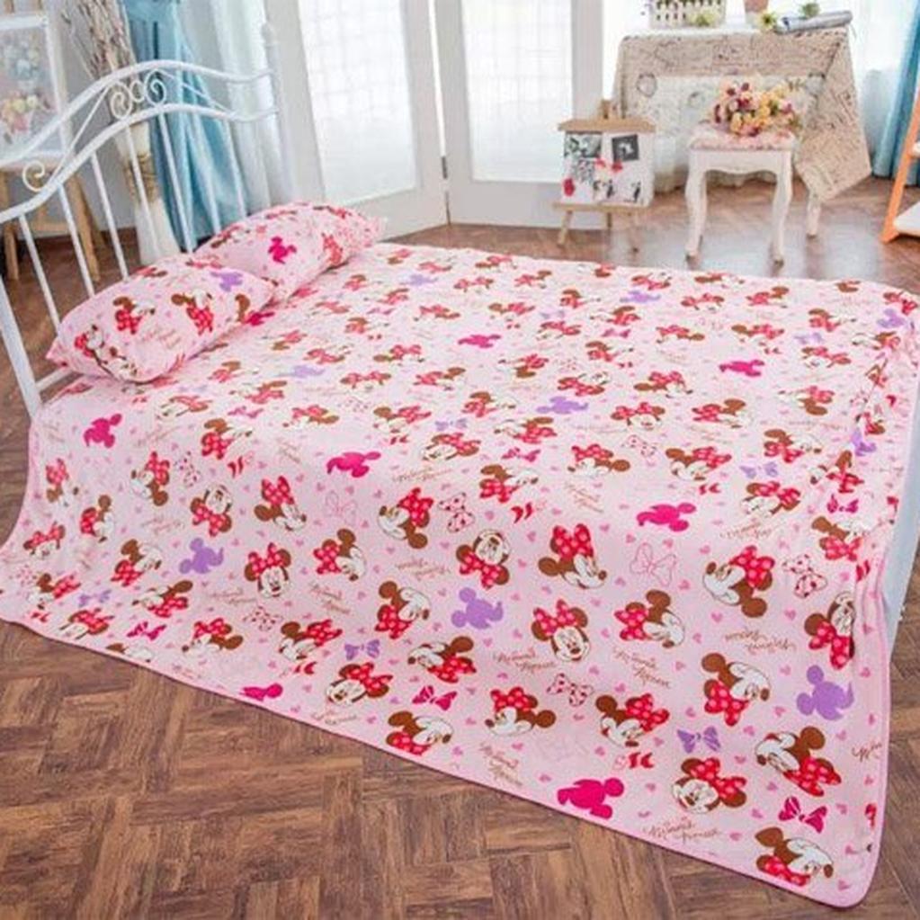 ~MiniBaby ~卡通米奇米妮絨毛枕頭套雙面絨毯子床單空調冷氣室午睡毯毛毯單人枕套