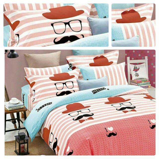 來成 鬍子先生單人 雙人床包組雙人加大雙人特大 床包天絲絨舒柔棉涼被兩用被 雙人三件組