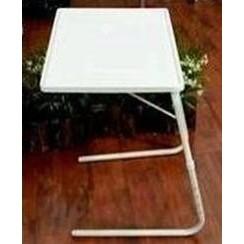 ~好樂利 館~多 白色五合一桌摺疊桌沙發桌床邊桌床上桌折疊書桌高度可6 段調整