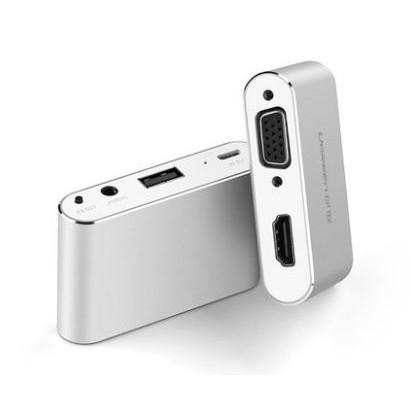 綠聯iPhone 轉hdmi vga 轉換器蘋果7 安卓手機ipad 平板接投影儀電視