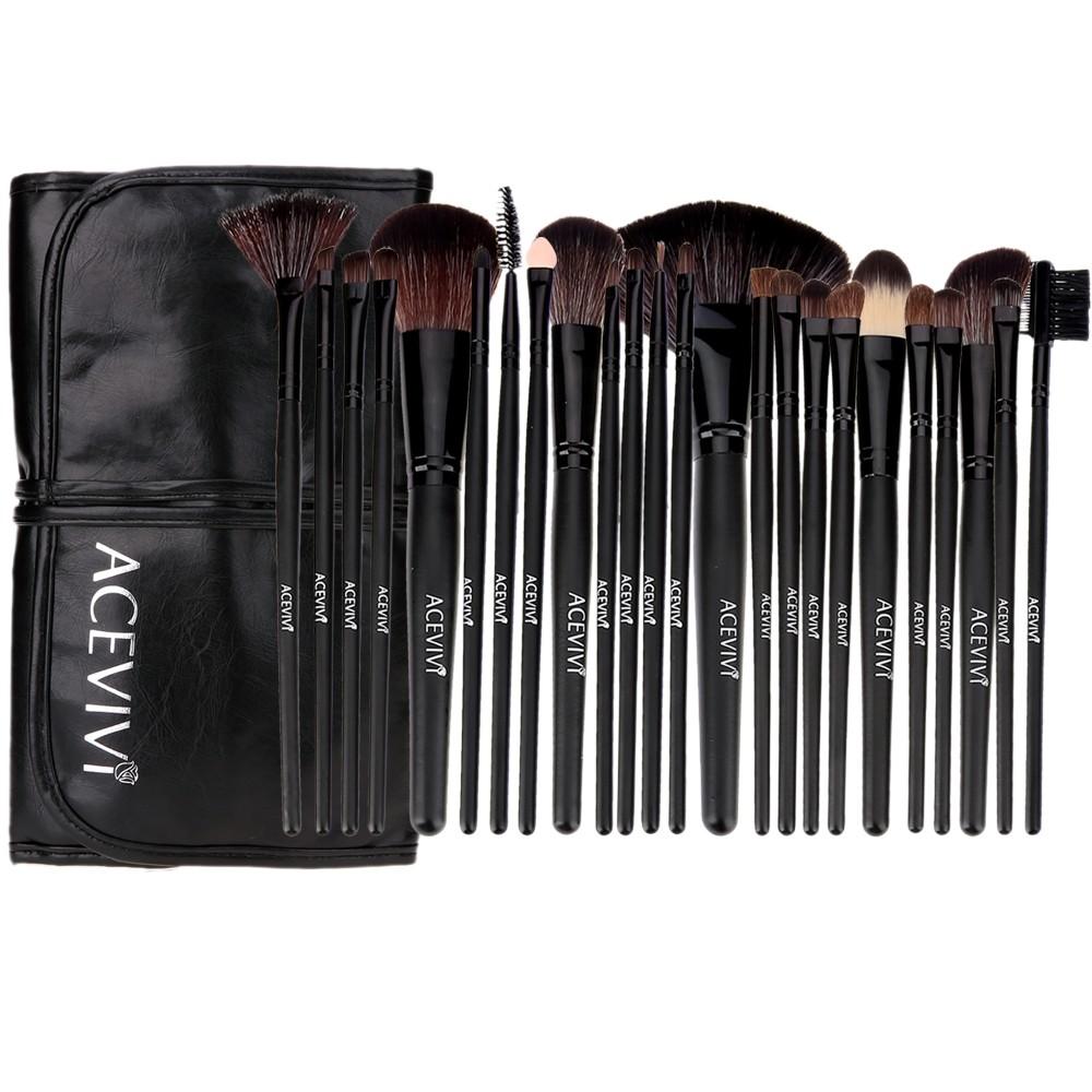 化妝套刷24 支全套刷化妝刷套裝工具化妝刷包影樓彩妝全套美妝工具ACEVIVI
