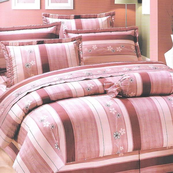 精梳棉薄床 薄枕套舖棉床 舖棉枕套 精製單人雙人加大特大典雅花研粉